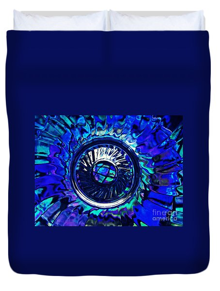 Glass Abstract 481 Duvet Cover by Sarah Loft