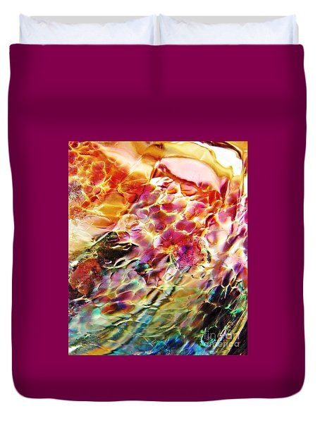 Glass Abstract 753 Duvet Cover by Sarah Loft
