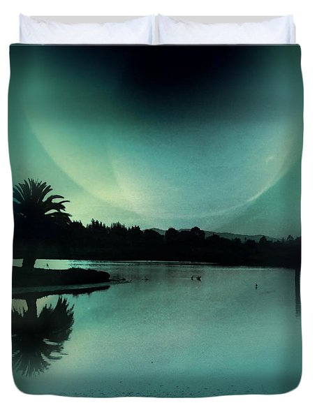 Glass Moon Duvet Cover