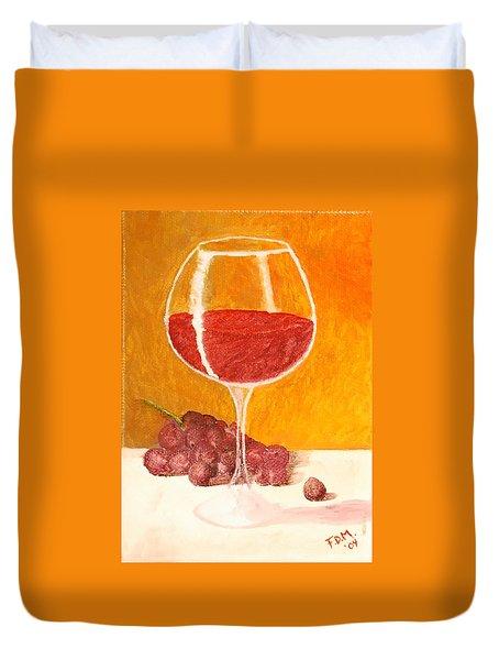 Glass Of Grapes Duvet Cover