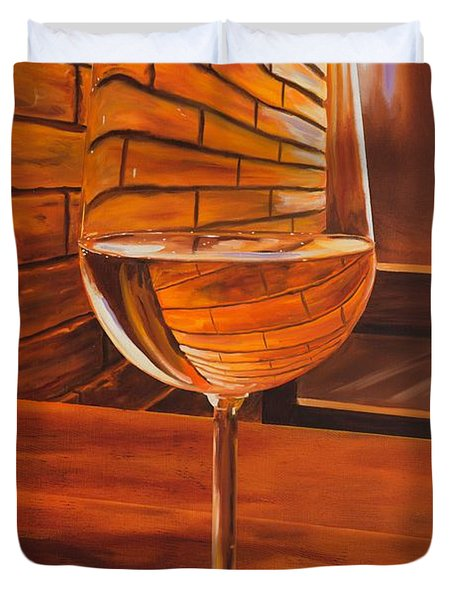 Glass Of Viognier Duvet Cover