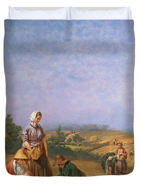 Gleaning Duvet Cover by George Elgar Hicks