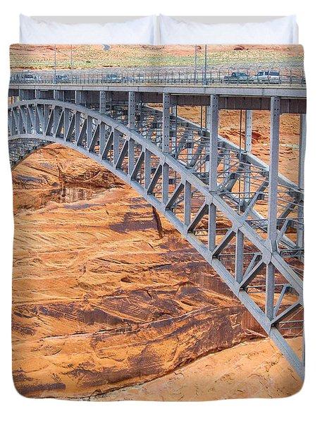 Glen Canyon Dam Bridge Duvet Cover