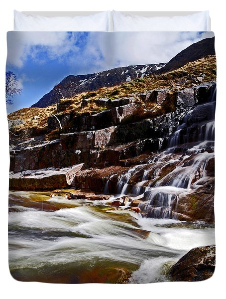 Duvet Cover featuring the photograph Glen Etive by Craig B