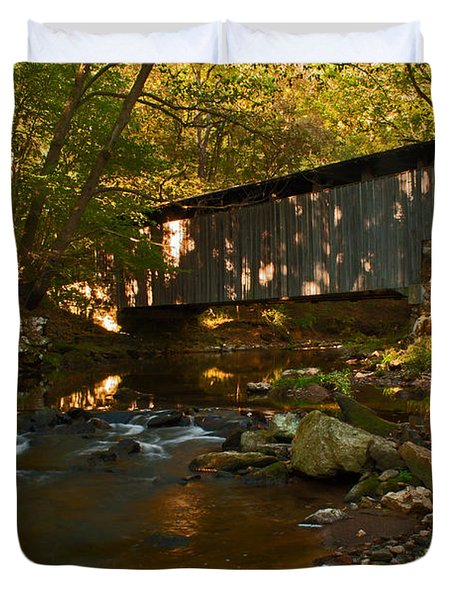 Glen Hope Covered Bridge Duvet Cover