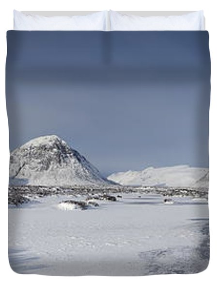 Glencoe And Buchaille Etive Panoramic Duvet Cover