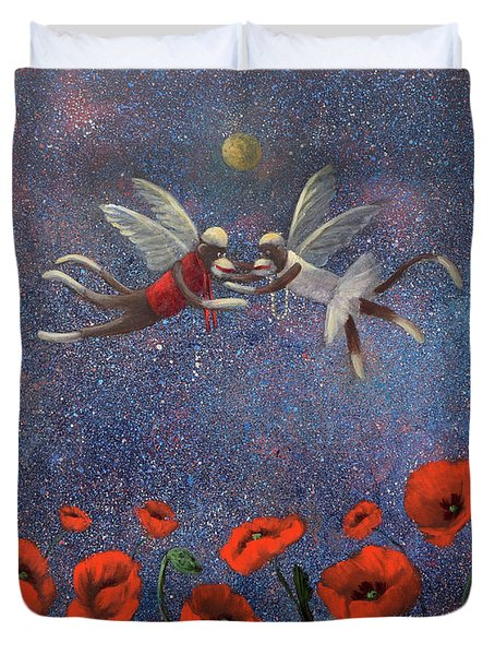 Glenda The Good Witch Has Flying Monkeys Too Duvet Cover