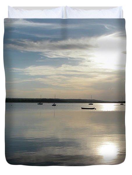 Glenmore Reservoir Calm Duvet Cover by Stuart Turnbull