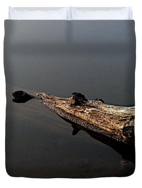 Glen's Log Duvet Cover by Joseph Yarbrough