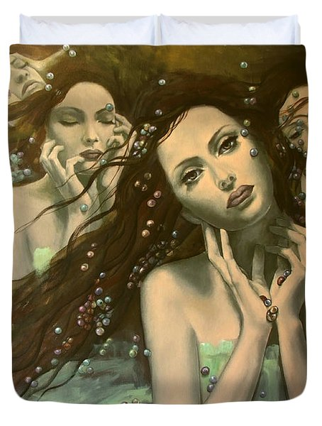 Glissando Duvet Cover by Dorina  Costras