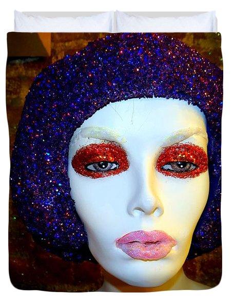 Glitter Gal Duvet Cover by Ed Weidman