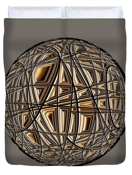 Duvet Cover featuring the digital art Global Routing by Judi Suni Hall