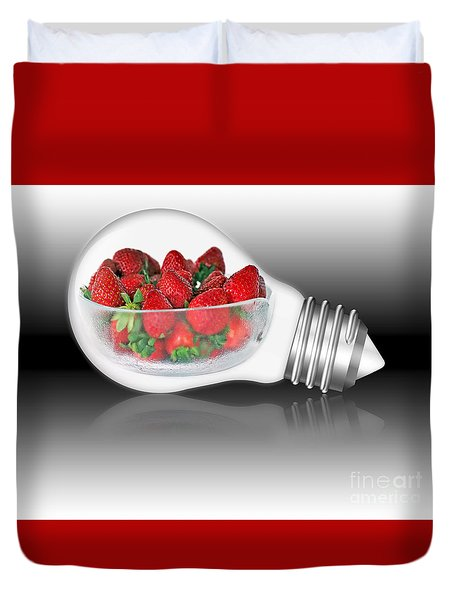 Global Strawberries Duvet Cover