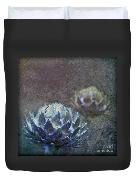 Duvet Cover featuring the photograph Globe Artichoke by Liz  Alderdice