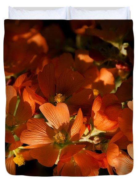 Globe-mallow Blooms  Duvet Cover by Saija  Lehtonen