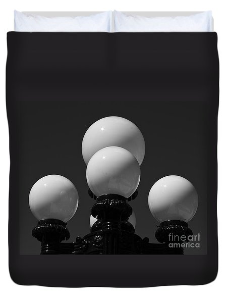 Duvet Cover featuring the photograph Globes by Linda Bianic