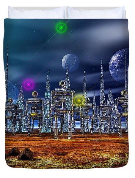 Gloeroxz Duvet Cover by Mark Blauhoefer