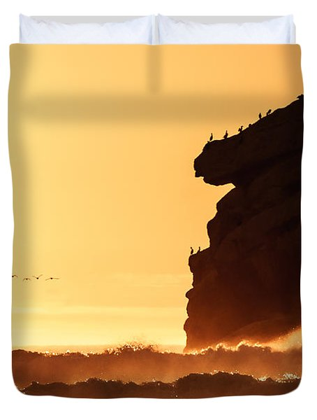 Glorious Afternoon At Morro Bay Duvet Cover
