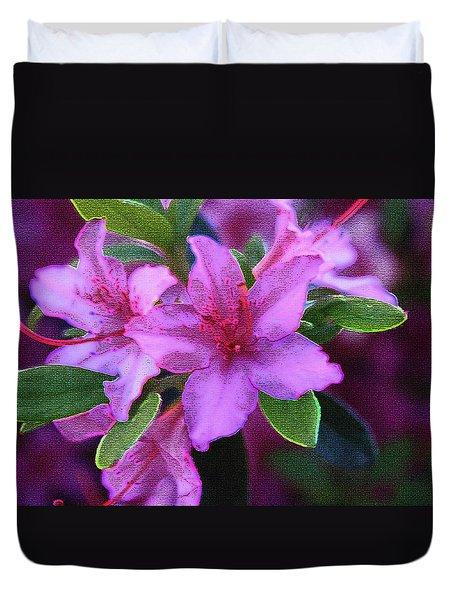 Glorious Pink Azaleas Duvet Cover