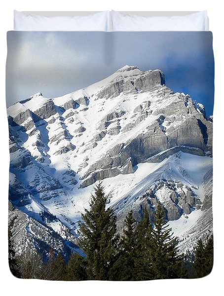Glorious Rockies Duvet Cover by Bianca Nadeau