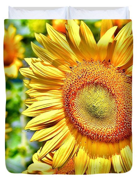 Glorious Sunflowers Duvet Cover