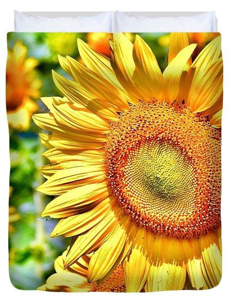 Glorious Sunflowers Duvet Cover