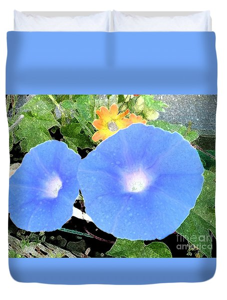 Duvet Cover featuring the photograph Glory Morn by Ecinja Art Works