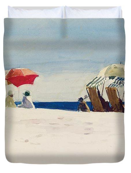 Gloucester Beach Duvet Cover by Edward Hopper