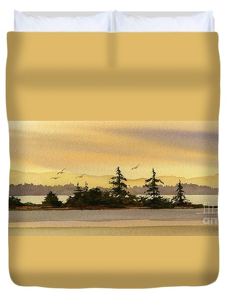 Glow Of Dawn Duvet Cover by James Williamson