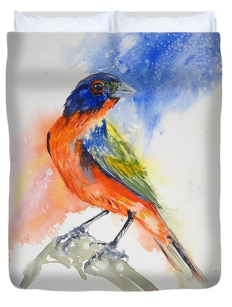 Da188 Glow Of The Painted Bunting Daniel Adams Duvet Cover