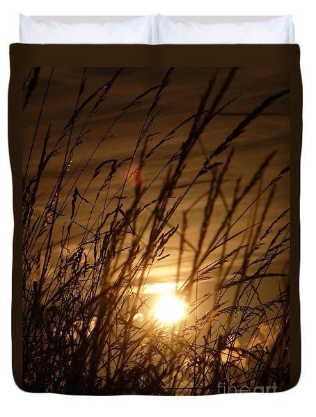 Glow Through The Grass Duvet Cover