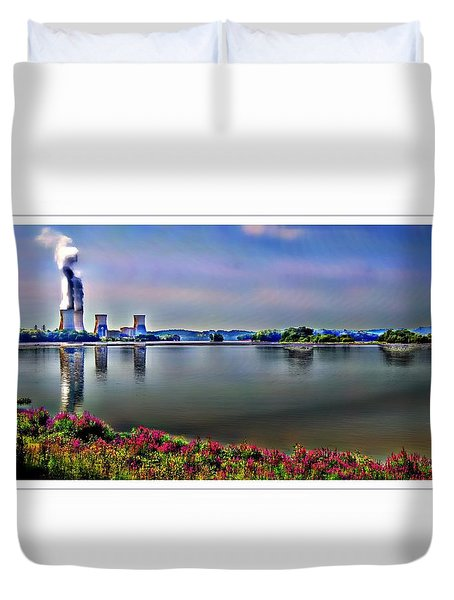 Glowing 3 Mile Island Duvet Cover