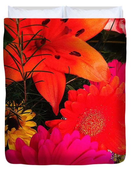 Duvet Cover featuring the photograph Glowing Bright by Meghan at FireBonnet Art