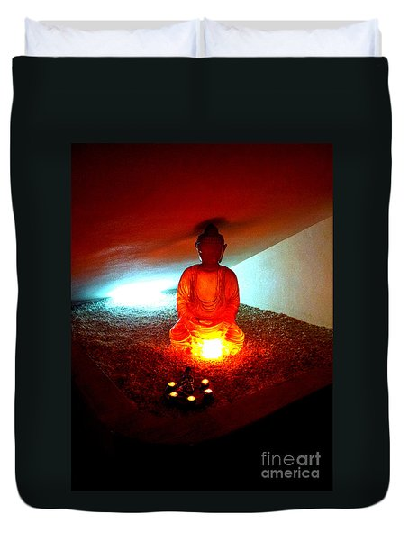 Glowing Buddha Duvet Cover