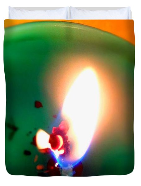 Glowing Candle Wick Duvet Cover