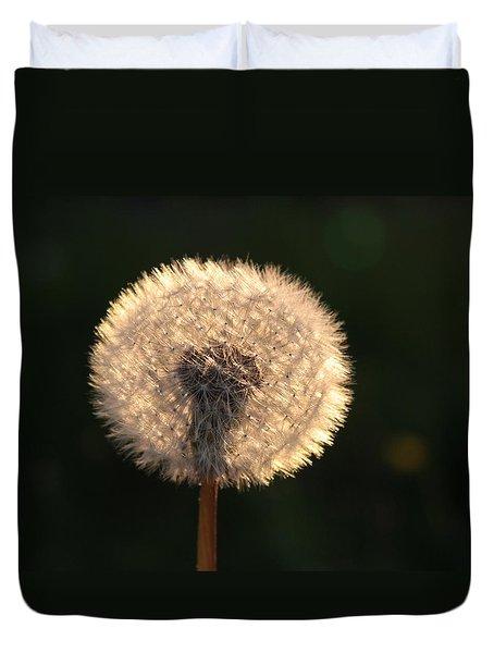 Glowing Dandelion Clock Duvet Cover