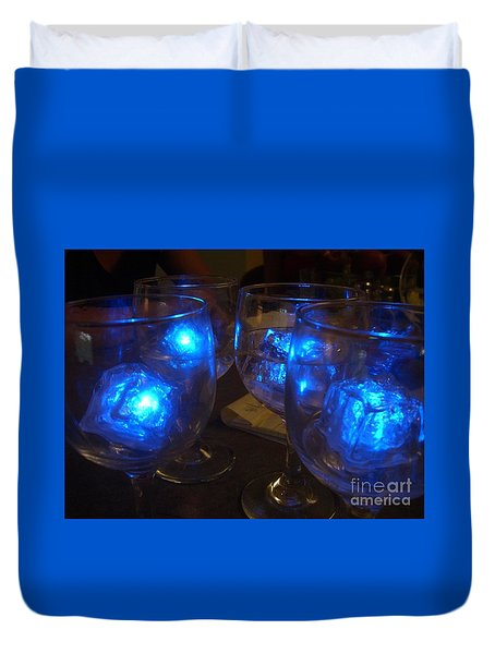 Glowing Drinks Duvet Cover