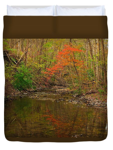 Glowing Fall Duvet Cover