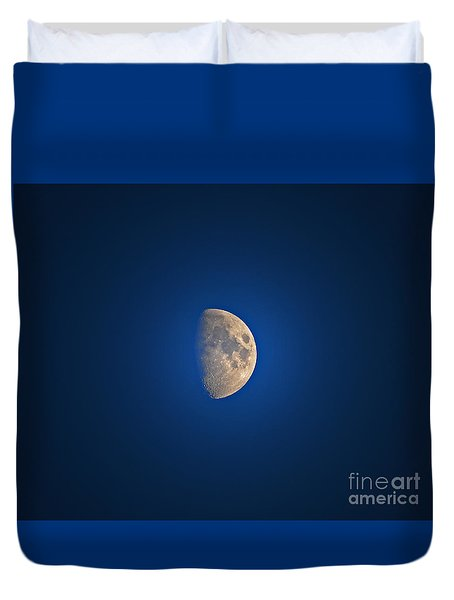 Glowing Gibbous Duvet Cover by Al Powell Photography USA