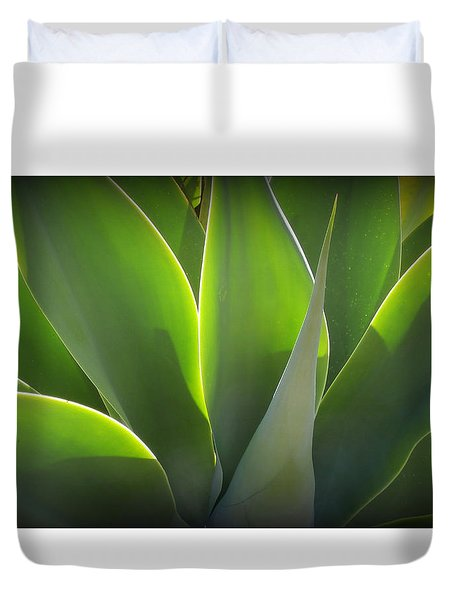 Glowing Gorgeous Green Duvet Cover