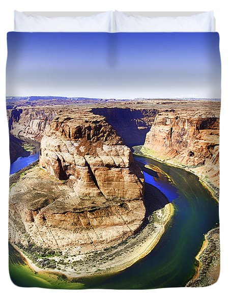Glowing Horseshoe Bend Duvet Cover