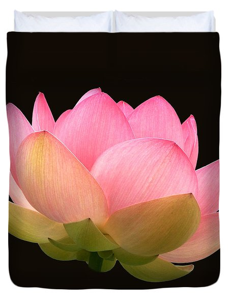 Glowing Lotus Square Frame Duvet Cover