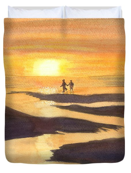 Glowing Moments Duvet Cover