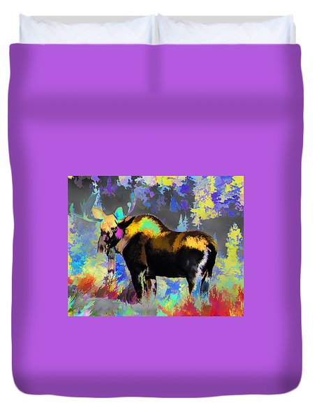 Electric Moose Duvet Cover