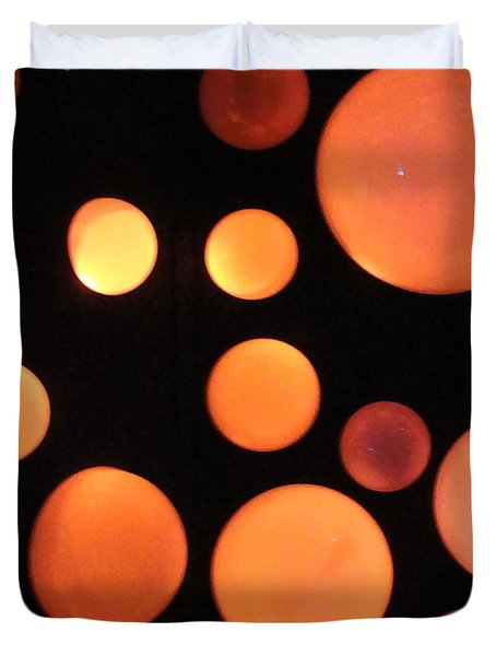 Glowing Orange Duvet Cover