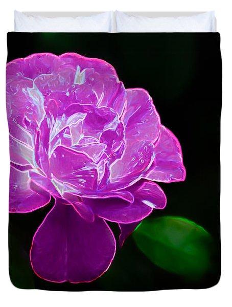 Glowing Rose II Duvet Cover