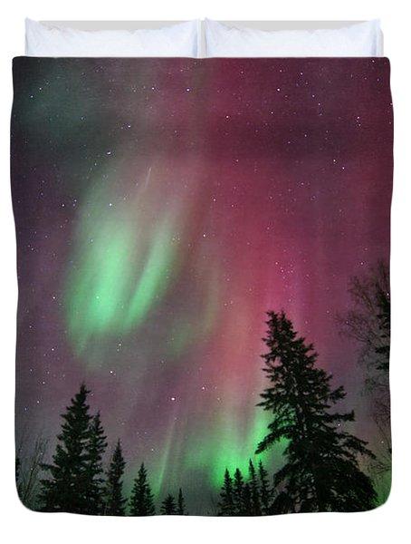Glowing Skies Textured Duvet Cover
