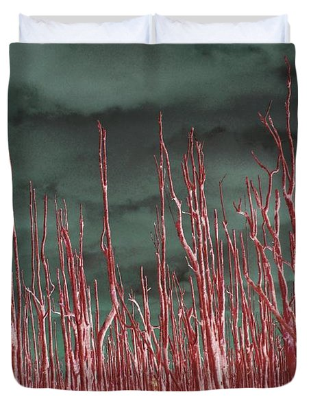 Duvet Cover featuring the photograph Glowing Trees 2 by Anthony Wilkening