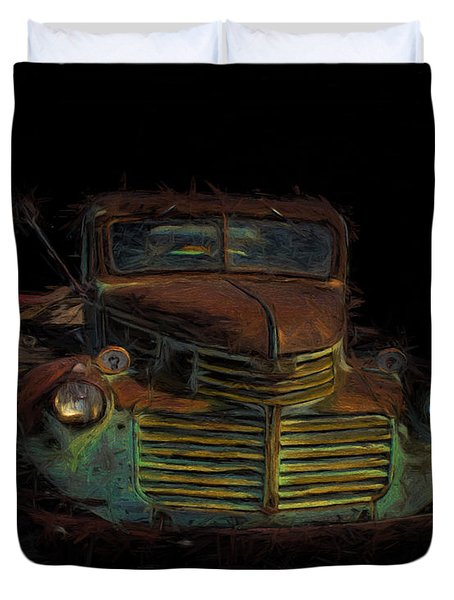 Duvet Cover featuring the digital art Gmc Truck  by Cathy Anderson