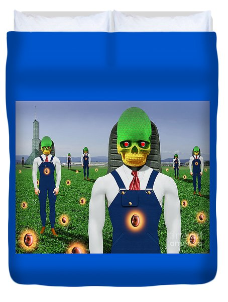 Gmo Demon Seeds Duvet Cover by Keith Dillon